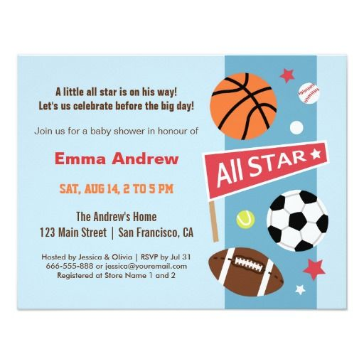 baby shower invitations on pinterest invitations baby showers sport