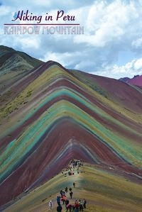 Rainbow Mountain or Vinicuncais a colorful sedimentary mountain with a peak of just over 5,000m (16,466 ft).Because of this, we recommend to at least aclimate for three days in Cusco, Peru before going on a day trip to Rainbow Mountain.  Read more of th
