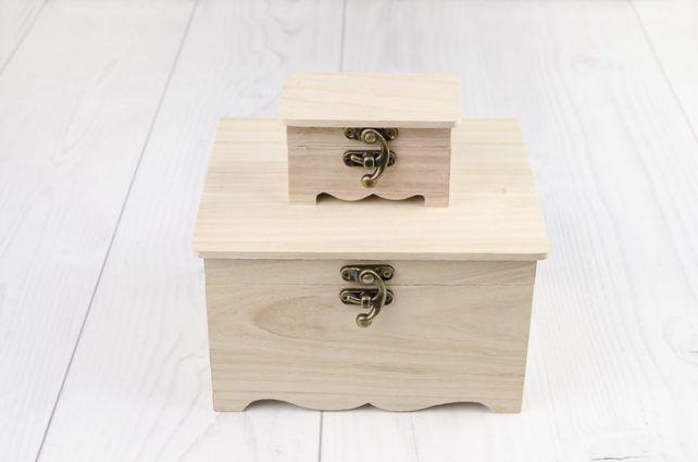 Drevená krabička Angel sada 2 ks