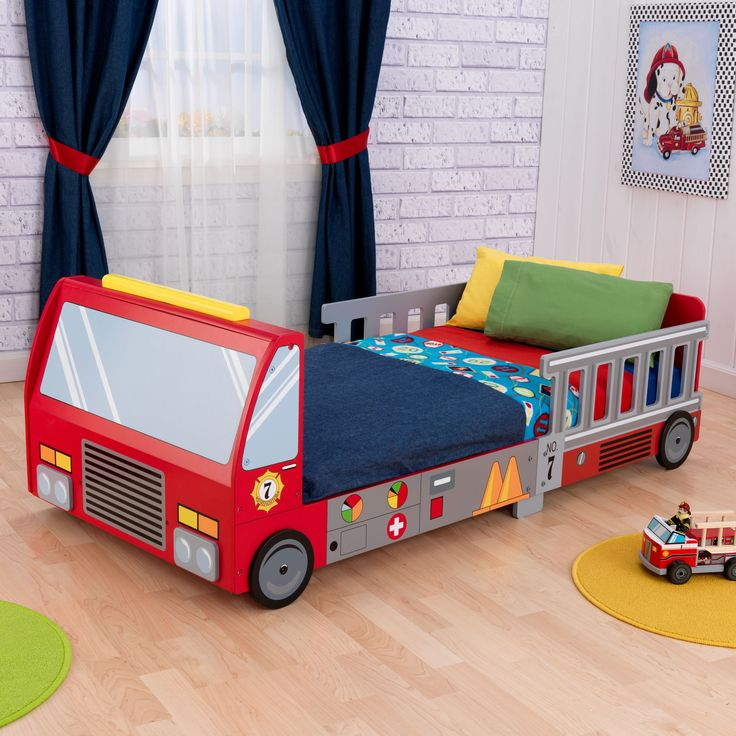 no need to sound the alarm at bedtime when you introduce this fun furniture to your childu0027s room the firetruck bed is the perfect focal point for any