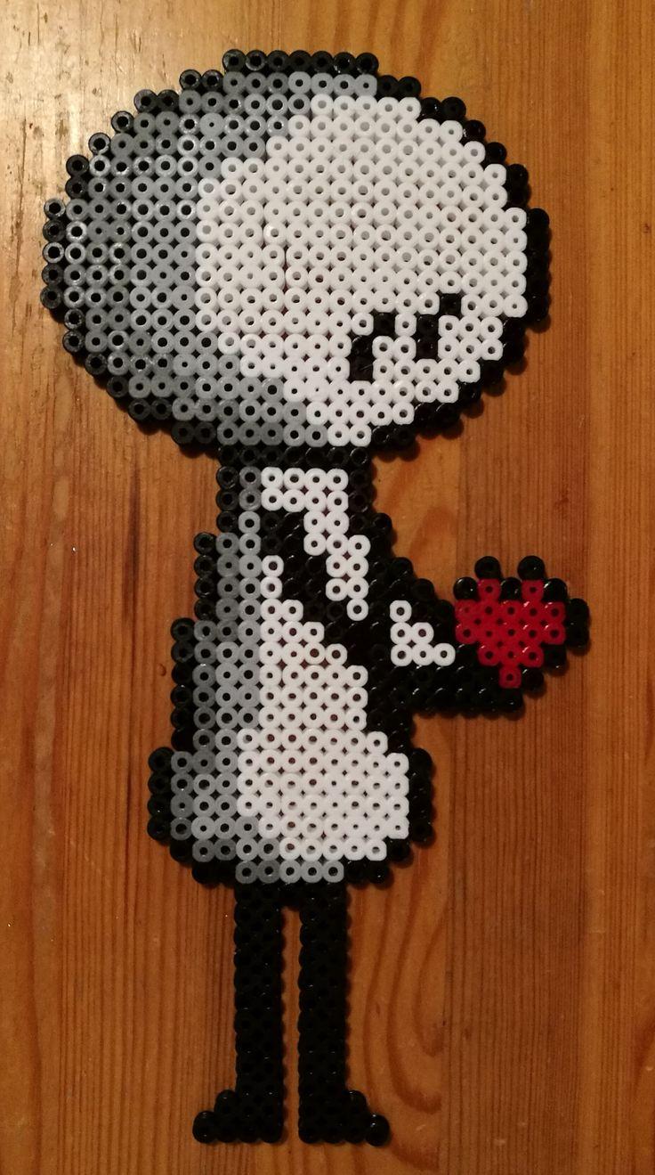 Pixelart character found from Pinterest.