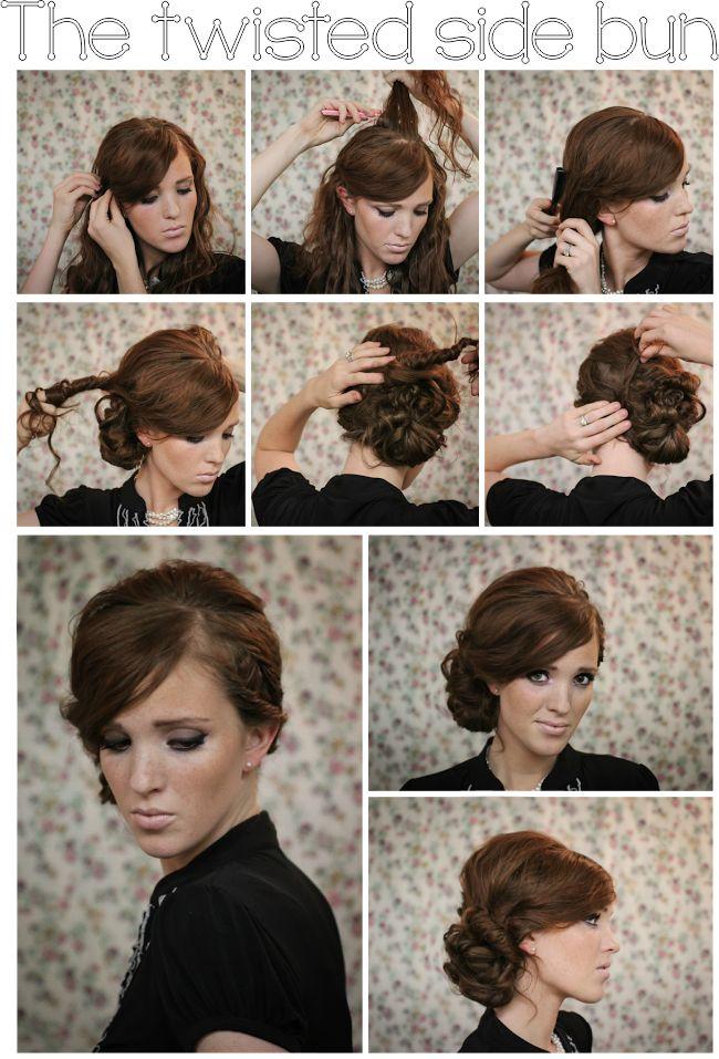 378 best hair ideas and inspo images on pinterest hairstyle ideas hair tutorial the twisted side bun bridesmaid hair solutioingenieria Gallery