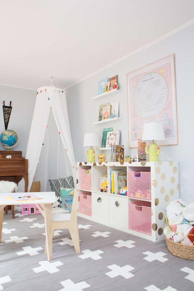 neutral shared playroom ideas