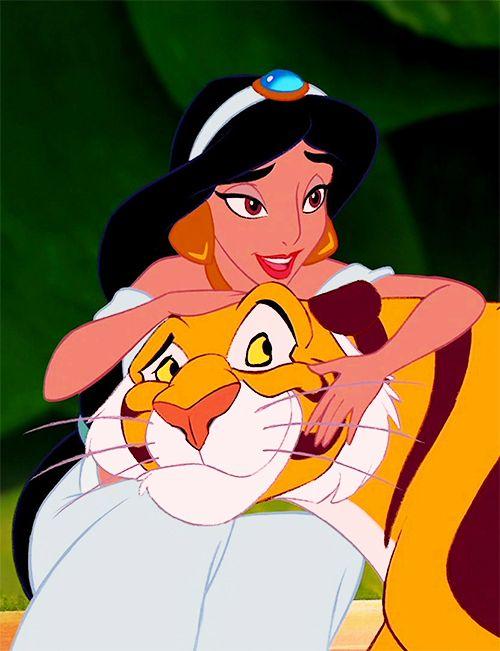 I always wanted a tiger as a pet because of Princess Jasmine <3