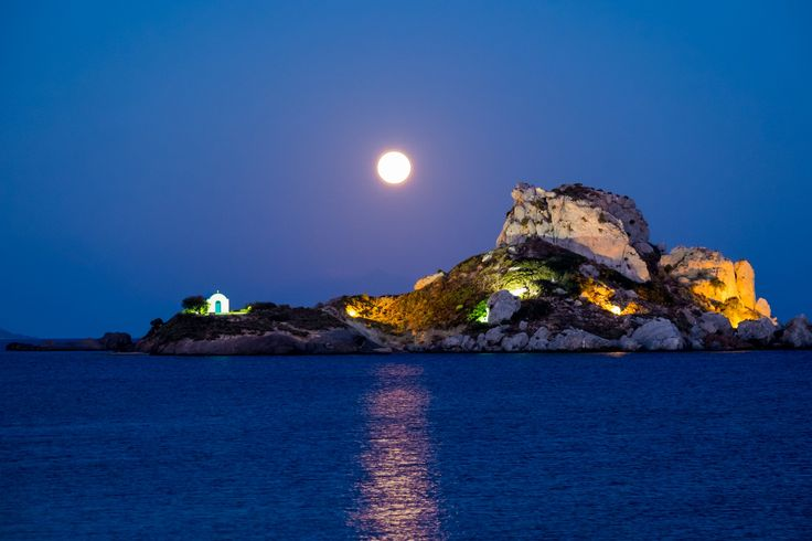 Moonrise on the Aegean