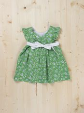 Julia Dress - Dots & Knots Available in blue and green Sizes 9M to 24M