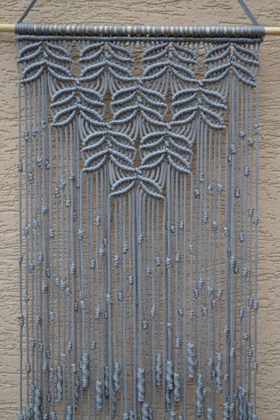 Home Decorative Macrame Wall Hanging by Mrcolmar on Etsy                                                                                                                                                                                 More
