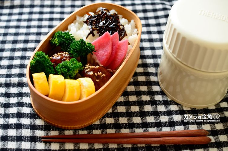 ・肉団子 ・卵焼き ・ブロッコリー ・ごはん+しそ昆布 ・赤大根の千枚漬け ・味噌汁(麦味噌 大根・白ねぎ・カキノキダケ)
