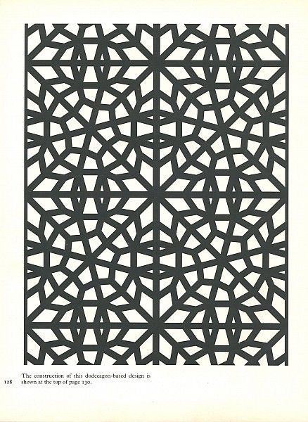 Pattern in Islamic Art - PIA 128 moorish arabesque moroccan muslim geometric tile design #islamicart