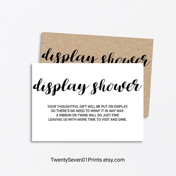 Kraft Paper DISPLAY SHOWER CARD, Display Bridal shower insert, Baby Shower  Invitation Insert C… | Bridal shower invitations, Bridal shower, Eco  friendly baby shower