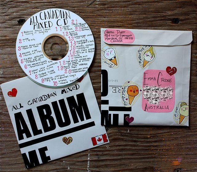 send your pen pal a mixed cd