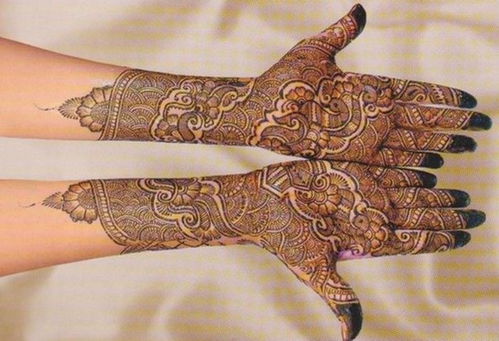 Rajasthani Mehndi Designs For Full Hands