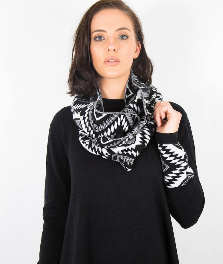 Black PlumTribal Jumper With Scarf Awesome #jumper on #sale