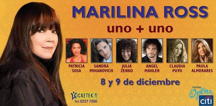 Marilina Ross Uno + Uno Teatro Opera Citi Diciembre 2010