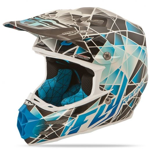 Formula Facet Blue/Silver Helmet | FLY Racing | Professional grade Motocross, BMX, MTB, Offroad, ATV, Snowmobile, and Watercraft apparel and hard parts