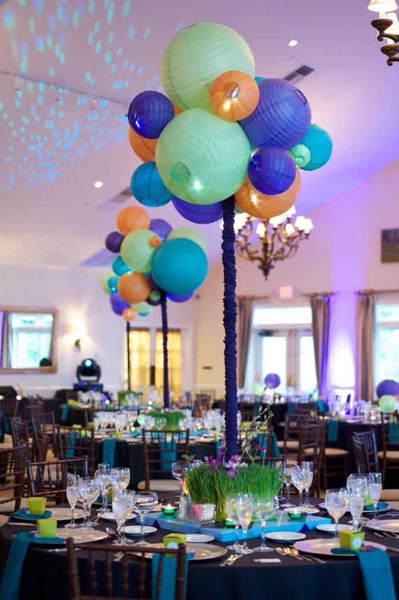 Paper lantern centerpieces party ideas decor