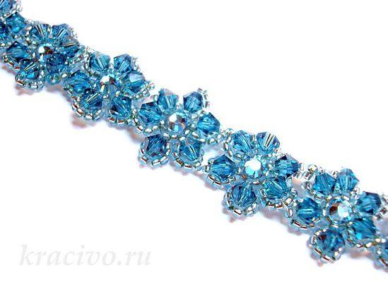 A very simple pattern for flower bracelet jewelry bead for Simple beaded jewelry patterns