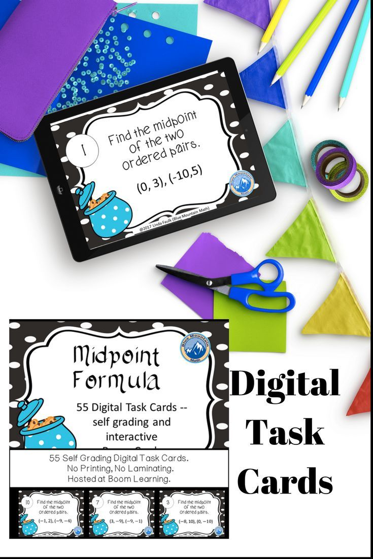 Great Practice Worksheet Alternative Formative Assessment For Students That You Can Hear If They Are Successfu Digital Task Cards Task Cards Midpoint Formula [ 1102 x 735 Pixel ]