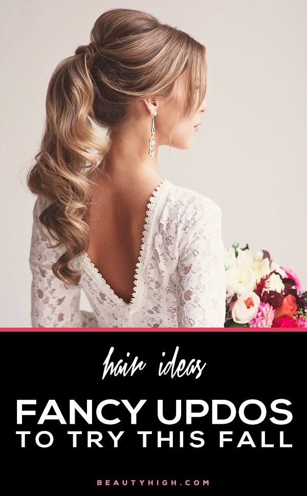 hair ideas - fancy updos to try this fall!