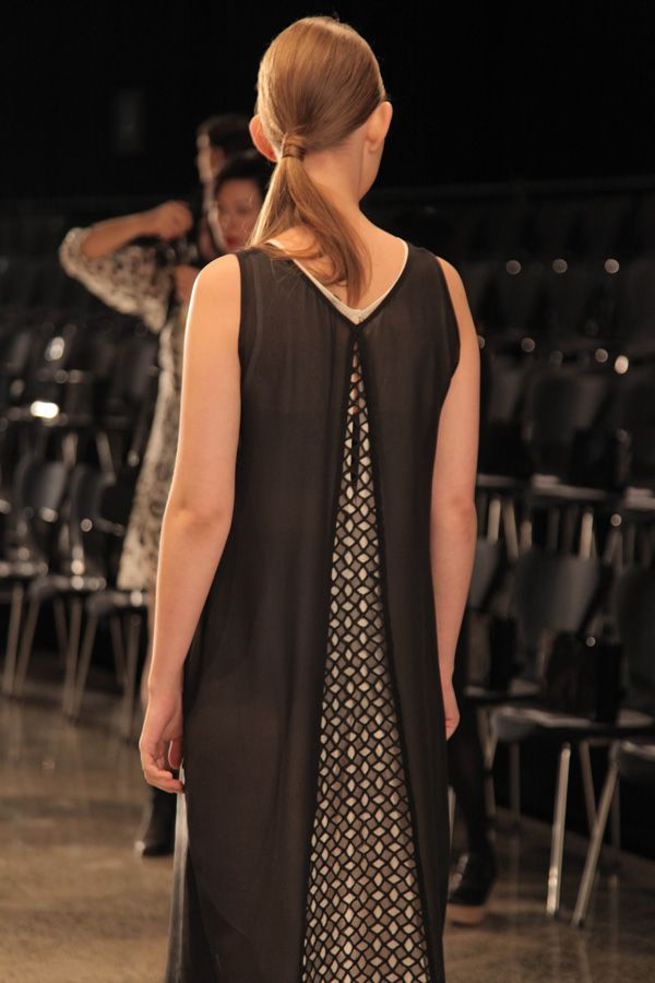 taylor 'Incision' collection at NZFW - Back detail of Section Dress
