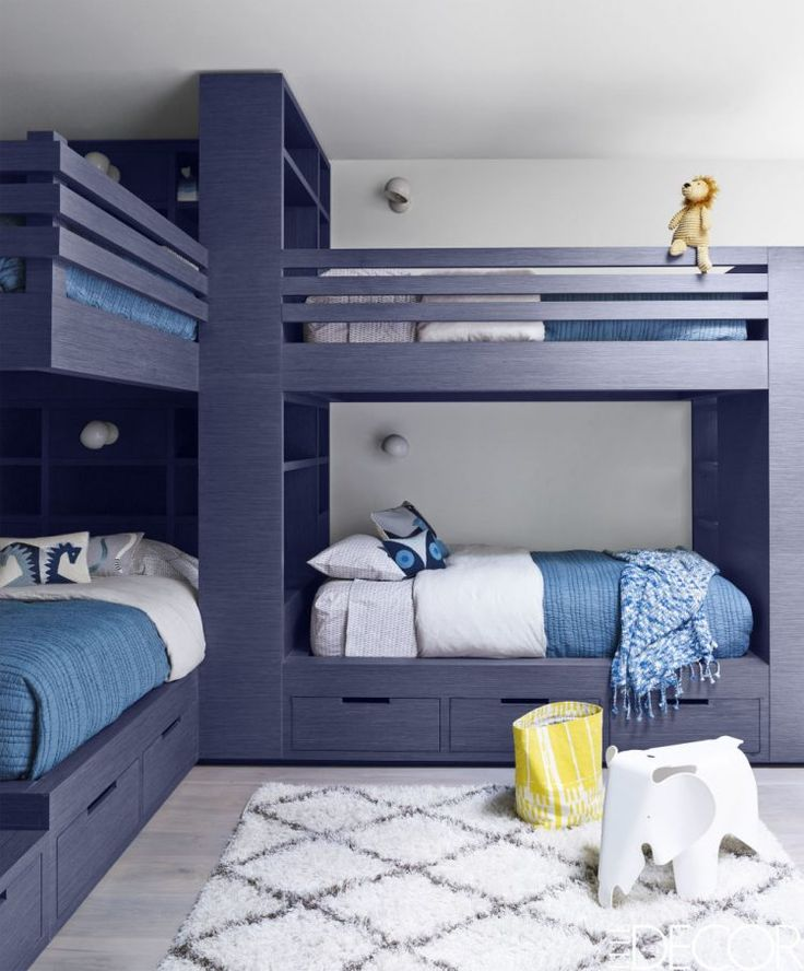 39 best boys rooms age 6 images on pinterest 3 4 beds bunk rooms and kidsroom - Blue boys rooms ...