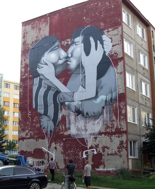 Claudio Ethos Mural In Kosice, Slovakia
