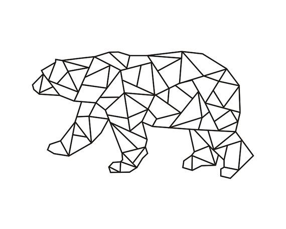 a632ec0498f8c17d335de462f2ca20d8 geometric bear geometric designs 57 best scrap origami images on pinterest drawings, geometric  at fashall.co
