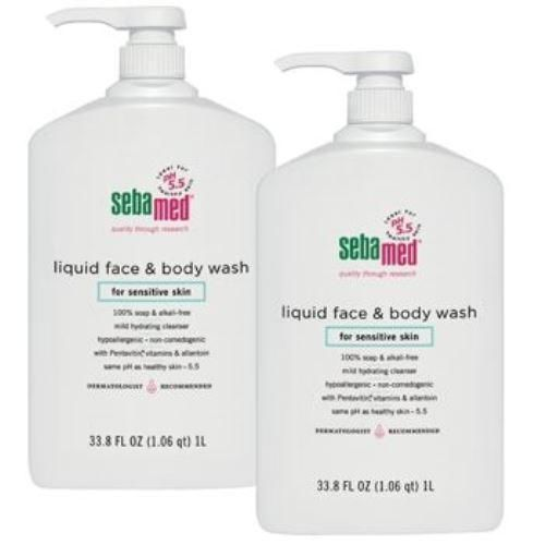 Sebamed Soap Free Face Body Wash Pump 2 Pack 1 Liter/ea $69.99