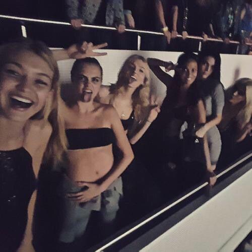 Gigi Hadid Cara Delevingne Lily Donaldson Joan Smalls Kendall Jenner