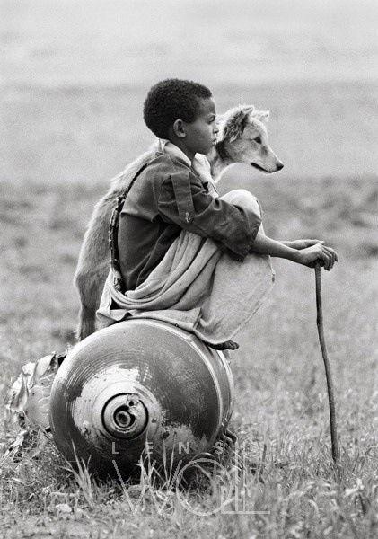 Boy with dog                                                       …