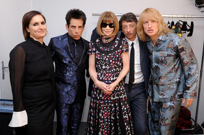 Exclusive! See Zoolander's Ben Stiller and Owen Wilson Prep for the Valentino Show  I am so excited for Zoolander 2!!!!!!