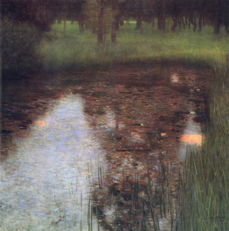 Gustav Klimt: La palude (1900) olio su tela. Stile: Simbolismo. Periodo: Fase d'oro