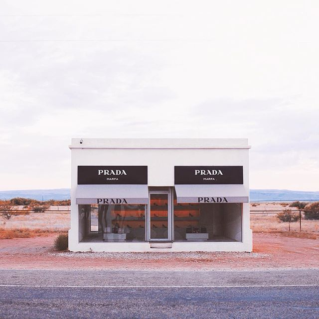 "Valentine, Texas this ""Prada Marfa"" art installation is arguably the most photographed and uploaded image. It is not a real Prada store (oh sigh) and not in Marfa. It is rather cool however."