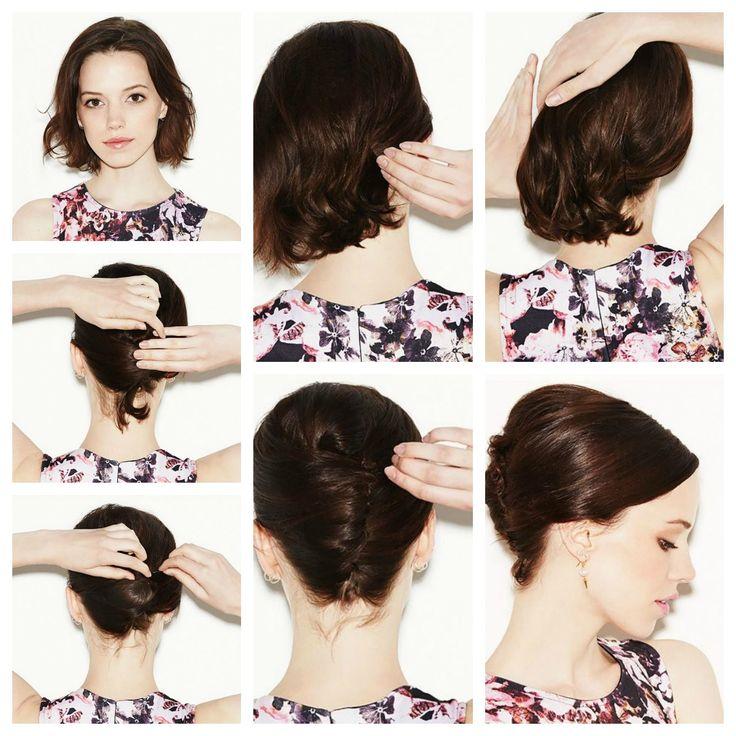 Tutorial come realizzare un french twist con capelli medi - Lei Trendy