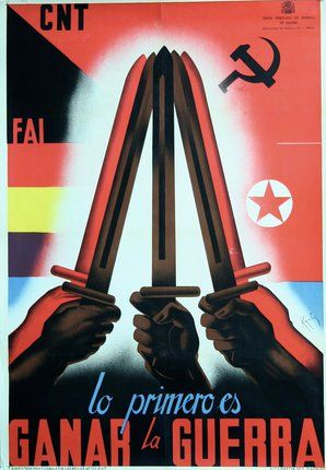 SOLD Poster ID: CL52758 Original Title: Lo Primero es Ganar la Guerra English Title: First Thing is to Win the War Designer: Kantos Year of Poster: 1930s Category: Political/Spanish Civil War Country of Poster: Spanish Size: 40 x 27 inches = 102 x 69 cm Condition: Very Good Available: No