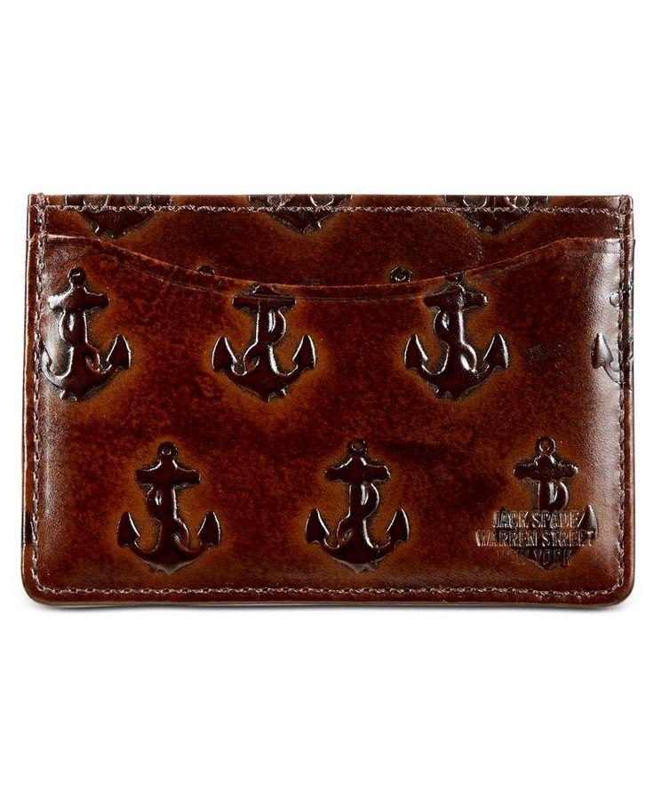 Jack Spade Men's Embossed Anchor Credit Card Holder