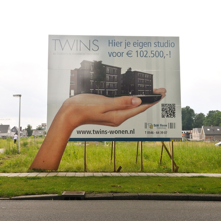 Bouwbord Twins, Enschede