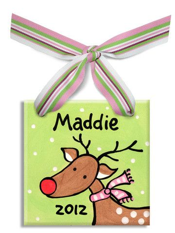 172 best personalized baby gifts images on pinterest baby gifts reindeer girls ornament personalized ornamentspersonalized babypersonalised gift negle Image collections