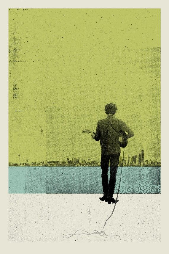 Bob Dylan silkscreen by artist Patrick Concepcion of San Jose, United States