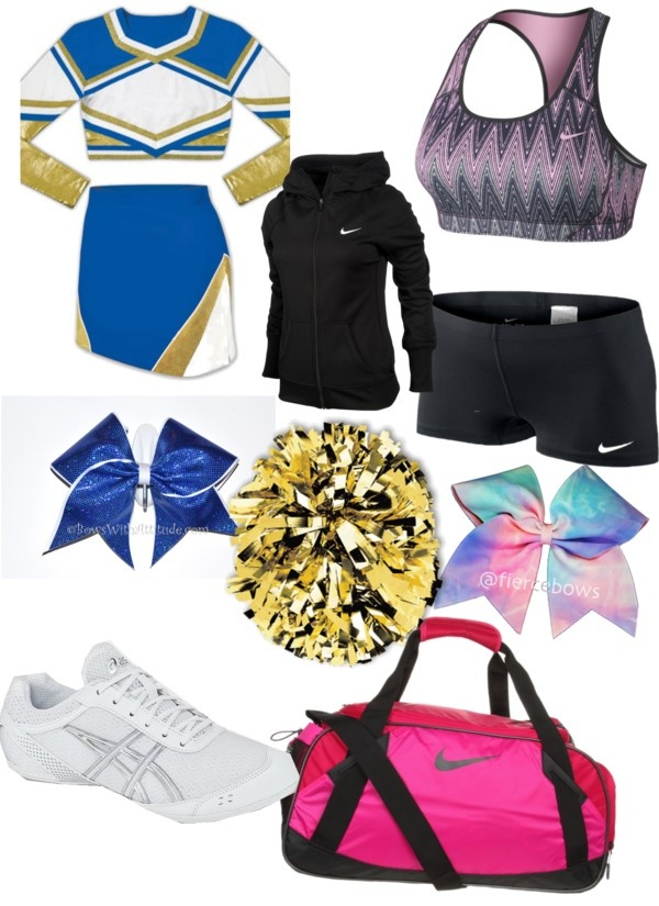 """Cheer practice and game time"" by berry-symone ❤ liked on Polyvore"