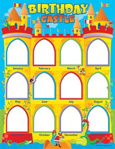 Birthday calendar castle