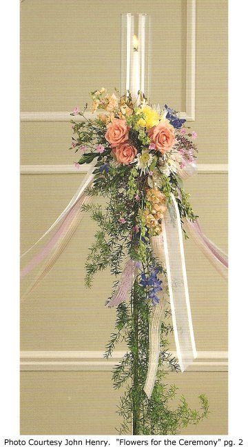 Aisle Candleabras with Church Wedding Candelabra Flowers - Church Decorations.  Love this look.