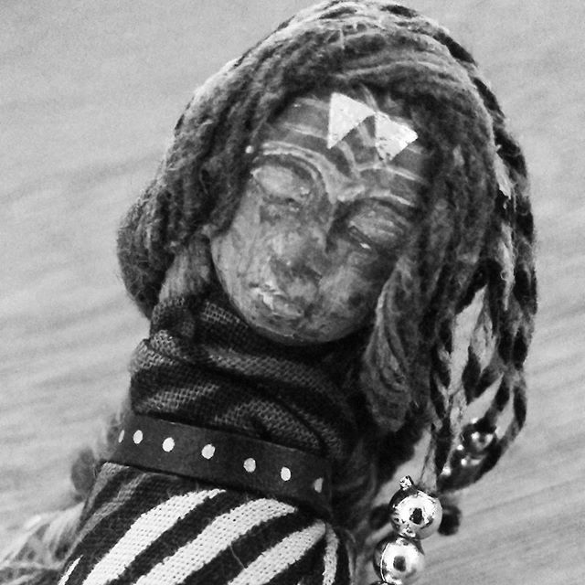 Black and white #artdoll #mystyle #hippyheartsbazaar #polymerclay