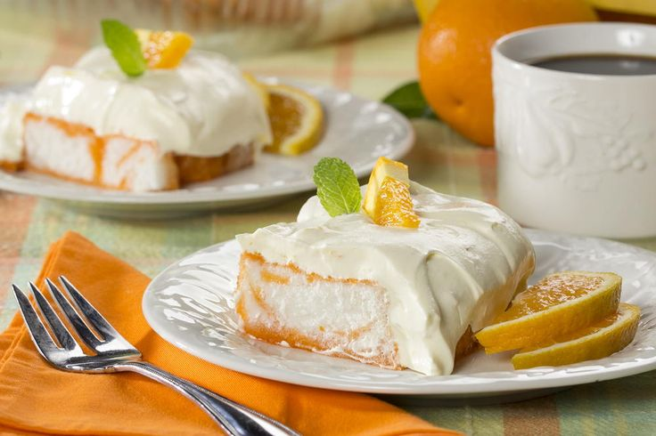 This cake is so light and so refreshing. Our Orange Dream Angel Cake reminds us of those orange and cream pops we dream about!