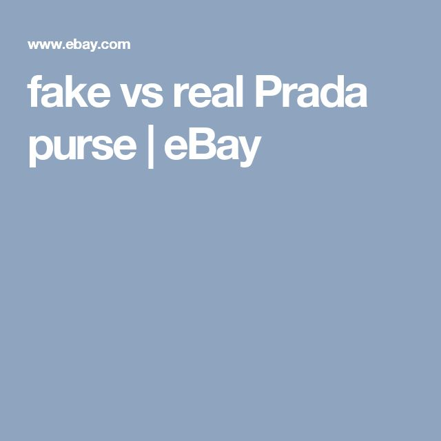 fake vs real Prada purse | eBay