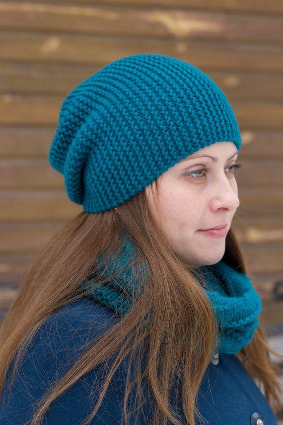 Hand knit beanie Women knit hat Merino wool hat Knit by MarooSocks