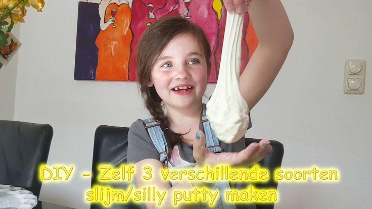 DIY - Zelf snel 3 soorten slijm - silly putty maken bijv met maïzena en ...