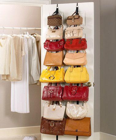 2 Over The Closet Door Hanging Purse Handbag Racks Home Organizer And  Storage In Home U0026 Garden, Household Supplies U0026 Cleaning, Home Organization,  ...