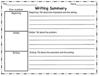 Writing Summary (Story Map)