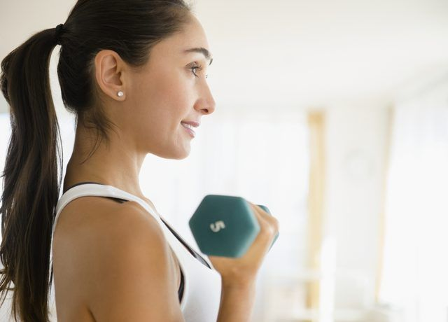 Lifting weights helps boost metabolism.